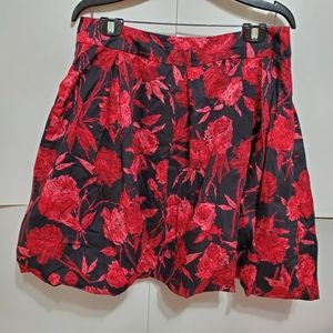 New York & Company floral skirt sz 12